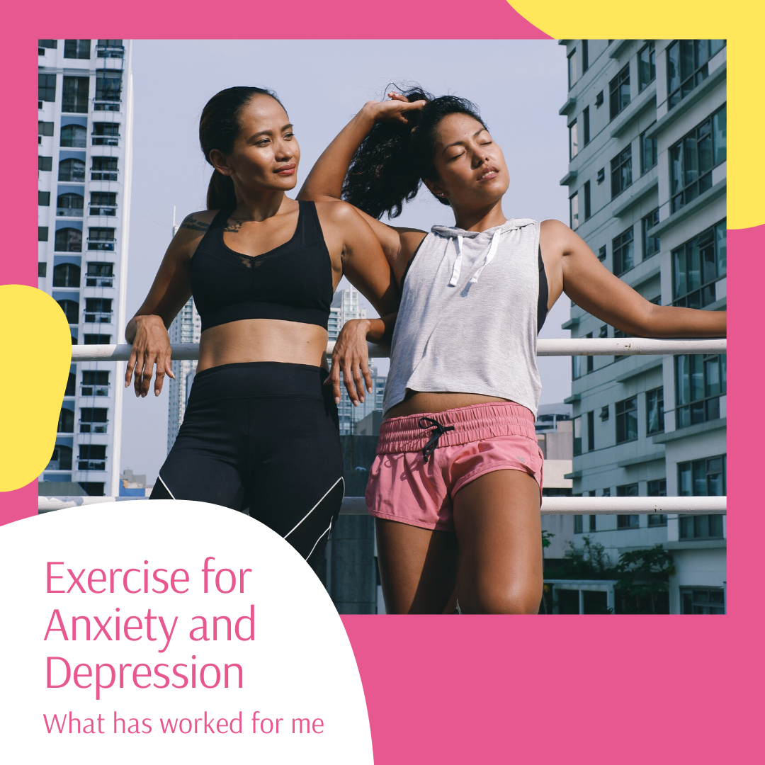 Two women looking happy in workout clothing after exercising